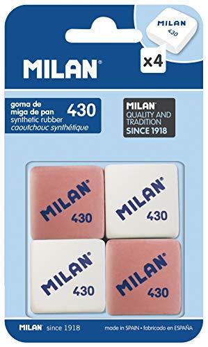 Milan BMM9215 - Pack de 4 gomas de borrar