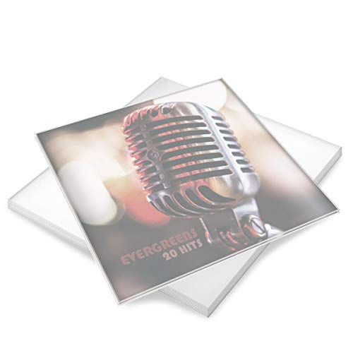 kwmobile 50x Schallplatten Hüllen matt transparent - 32,5x32,5cm - für 12