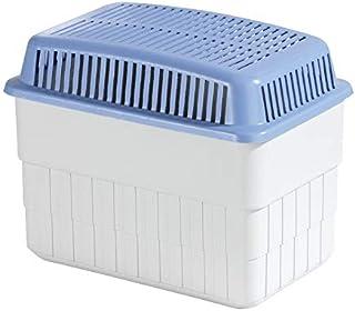 WENKO Feuchtigkeitskiller mit 1 kg Granulatblock, Raumentfeuchter, fasst bis zu 1,4 l Feuchtigkeit, laborgeprüft, nachfüllbar, reduziert Schimmel und Gerüche, Maße (BHT): 24x16x15 cm, grau/blau