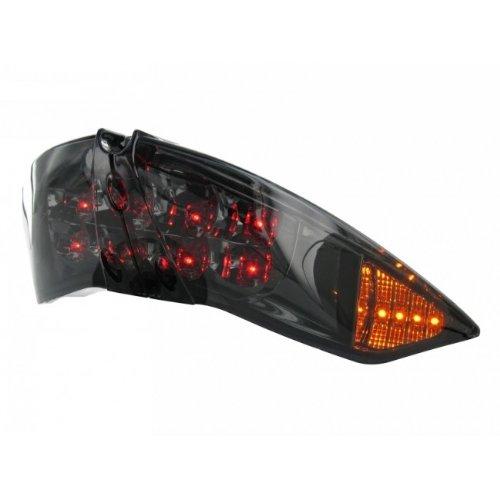 Rücklicht STR8 Black-Line LED, inkl. Blinkerfunktion für Peugeot Jetforce, komplett mit Prüfzeichen