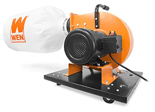WEN DC3402 7.4-Amp Rolling Dust Collector with Induction Motor, 15-Gallon Bag and Optional Wall...
