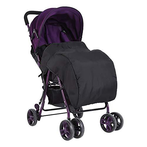 Fußsäcke für Kinderwagen, Wasserdichte Winddicht Decke für Kinderwagenschale / Buggy , Universal für Babyschale, aus 300D Oxford Stoff + Baumwolle, 60 x 40 cm, Schwarz