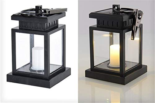 Trihedral-X Solar Lantern Outdoor Candle Lights With Clamp Beach LED Waterproof Hanging Umbrella Lantern Solar Light For Garden Decoration