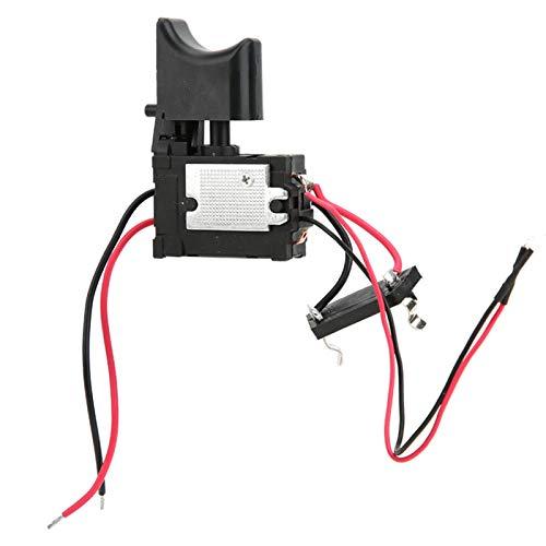 Interruptor de Taladro Eléctrico, 7.2 V - 24 V Batería de Litio Taladro Inalámbrico Interruptor de Gatillo de Control de Velocidad con Luz Pequeña para Equipos Industriales Eléctricos
