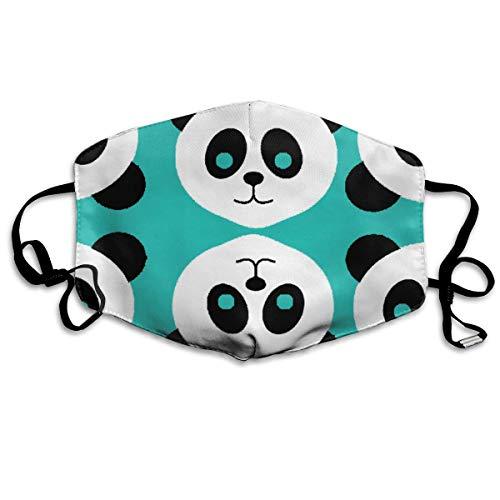 Preisvergleich Produktbild Vbnbvn Unisex Mundmaske, Wiederverwendbar Anti Staub Schutzhülle, Green Panda Patterns Face Mask with Earloops Protect Yourself from Dust Germs and Pollen for Men Women Kids