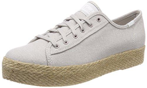 Keds Damen TPK Kick Jute Lt. Gray Sneaker, Grau (Grey), 39.5 EU