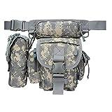 ANTARCTICA Waterproof Military Tactical Drop Leg Pouch Bag Type B Cross Over Leg Rig Outdoor Bike Cycling Hiking Thigh Bag (ACU)