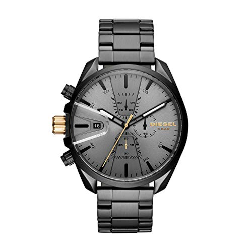 Price comparison product image Diesel Men's MS9 Black IP Plated Stainless Steel Watch DZ4474