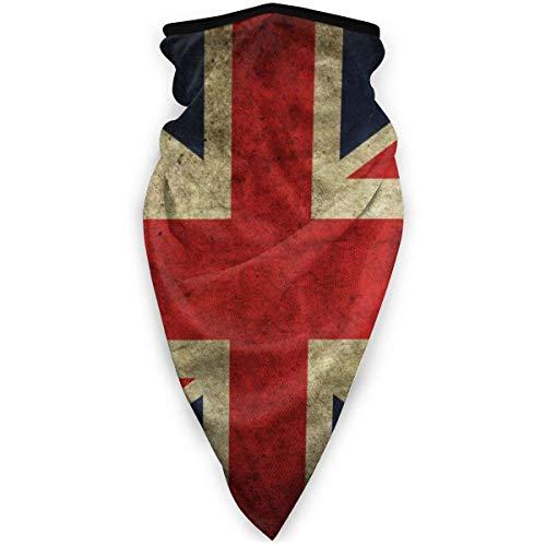 Tzshak Retro Britische UK Flagge Windbreak Schal Gesichtsmaske Waschbare Staubmaske Sturmhaube Bandana