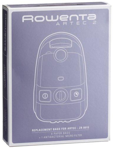 Rowenta Sacs Aspirateur x6, Filtre x1 Compatibles Aspirateurs Artec 2 Accessoire Officiel ZR001501