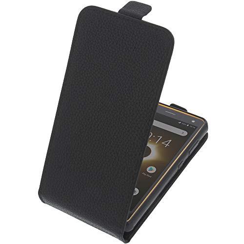 foto-kontor Tasche für Ruggear RG650 Smartphone Flipstyle Schutz Hülle schwarz