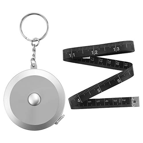 Edtape 2PCS Measuring Tape for Body,Soft Tape Measure for Body Sewing Fabric Tailor Cloth Craft Measurement Tape,60 Inch/1.5M Keychain Retractable Dual Sided Measure Tape Set