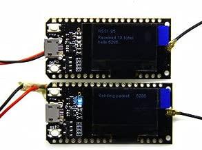 2Pcs Wemos TTGO LORA32 868/915Mhz ESP32 LoRa OLED 0.96 Inch Blue Display Bluetooth WiFi ESP-32 Development Board Module with Antenna