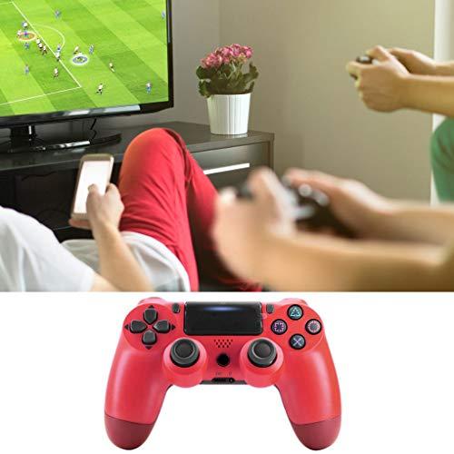 rongweiwang Sin Hilos del Juego portátil ABS Consola de Juegos Gamepad Pro Accesorio para PS4 Juego Joystick, Rojo