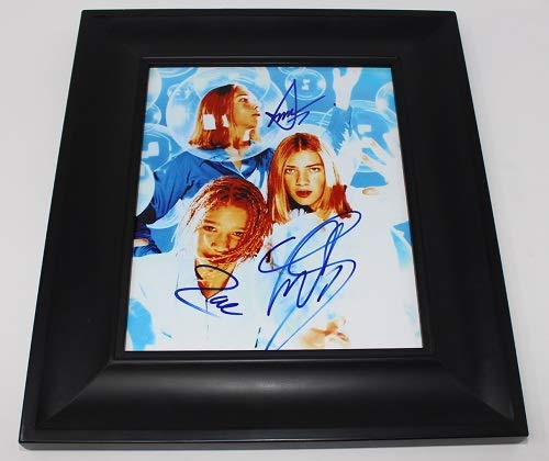 Hanson Taylor Isaac Zac Hanson MMMbop Group Signed Autographed 8x10 Glossy Photo Gallery Framed Loa