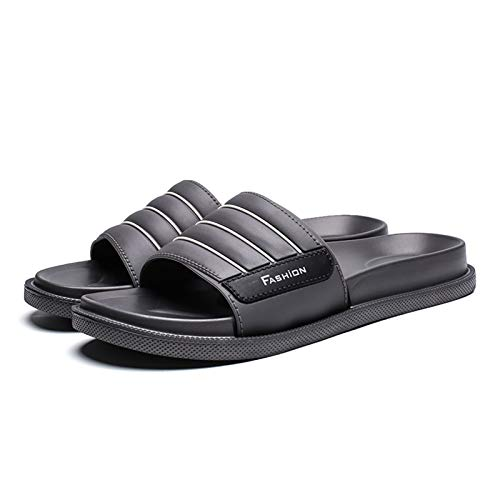LDH Chanclas Hombre, Zapatillas de Fondo de Fondo Suave Casual Sandalias de Verano para Al Aire Libre Flops Pisos Antideslizantes Baño para El Hogar Zapatillas de Masaje Azul