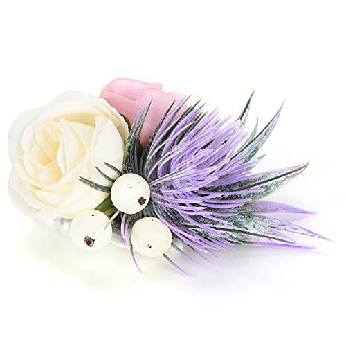 Liyeehao Flor de muñeca, Exquisito Ramillete de muñeca para Boda, Baile, Aniversario, Quinto Aniversario, cóctel(Rosado)