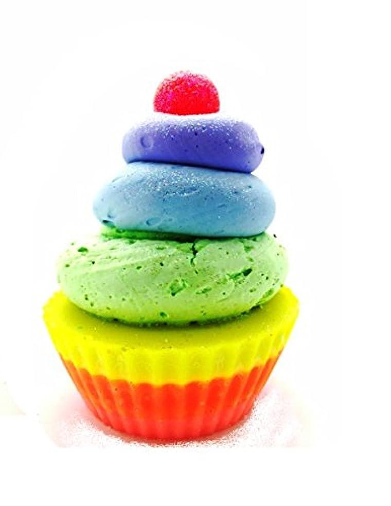 店員占める北へ【Two of Cups】 (トゥー オブ カップス) ゴート ミルク ソープ カップ ケーキ ( レインボー )
