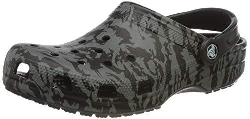 crocs Unisex-Erwachsene Classic Printed Camo Clogs, Schwarz (Black 001), 38/39 EU