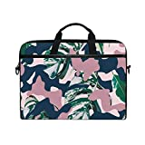 Hunihuni Tropical Military Camouflage Laptop Schultertasche Messenger Bag Case Aktentasche mit...