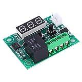 2pcs W1209 DC 12V Termostato digital Sensor impermeable Interruptor de control de temperatura -50~110 ° C Verde