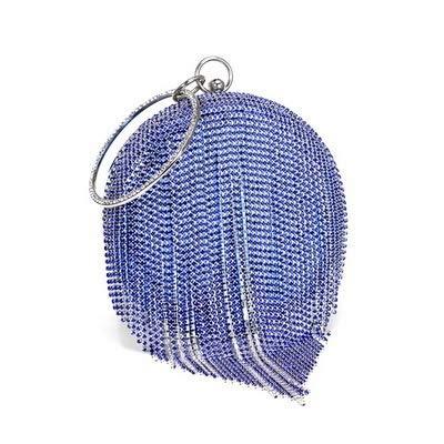 T-ara El Nuevo Bolsas de Las Mujeres Bolsas Eventide Bolsas de Bolas de Bolas Diamantes Día Monedero Bolsas de Boda Bolsas de Boda Imprescindible para el Senderismo (Color : Blue, Size : A)