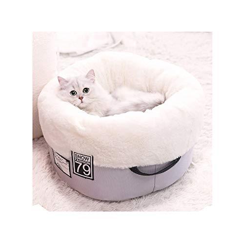 GLMAS kat nest, kennel, kat nest, kennel, kat strooisel bed, kennel bed, vier dagen universele kat kennel, verwijderbare kat strooisel bed, kat slaapzak huisdier kat mat katoenen pad, Small, Zwart