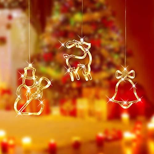 Luces Cadena Vacaciones,Luces de Decoración Navideña,Luces De Navidad Led Luz Colgante,Lámpara De Ventosa De Navidad Luz De Ventosa,Cadena de Luces LED,Led Cortina Cadena Luces (3B)