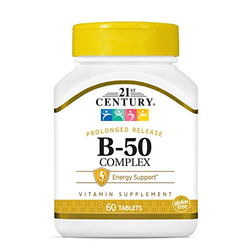 21st Century B 50 Complex Prolonged Release Tablets, 60 Count (Pack of 1)