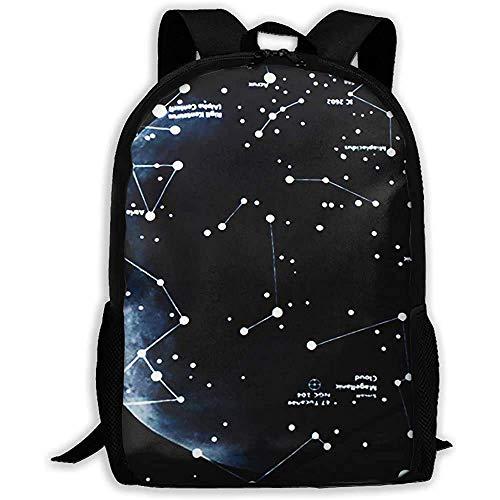 Hdadwy Men/Women Travel Backpack,Casual Shouder Knapsack,Lightweight Basic Bookbag,Black Star Galaxy Student School Daypack,Laptop Business Rucksack,for Adult/Teens