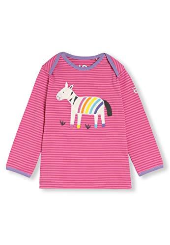 Algodón orgánico - Bebé Niña Niños pequeños - Camiseta de Manga Larga - Niñita Niñito (0-4 Años) (2T (2-3 Años), Cebra Rosa)