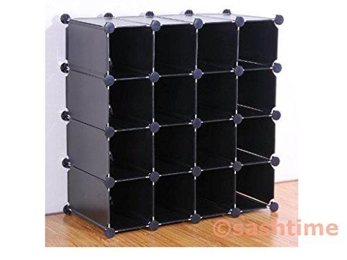 Generic NV 1001003205 _ yc-uk2 Mikael andom 16 Organiseur de Rangement Cube New imbriqués Orgue étagères d'affichage 16 Paires de Chaussures Cube GE SH Support Couleur : aléatoire New int
