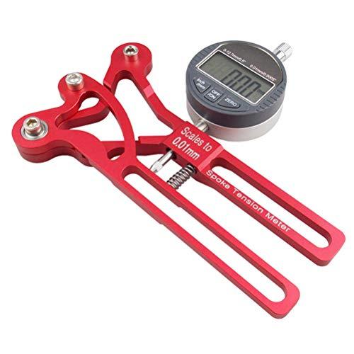 Breale Tensiómetro digital para radios de bicicleta de montaña y bicicleta de aleación de aluminio, para radios, tensión, rueda constructor, herramienta de reparación de radios
