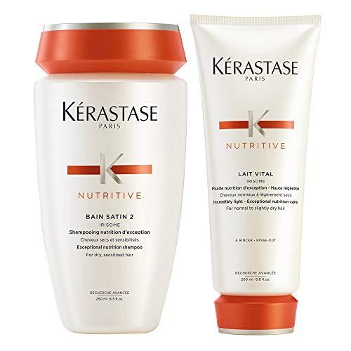 Kérastase Bain-Satin 2und Lait-Vital (Shampoo und Pflegespülung) Doppelpack