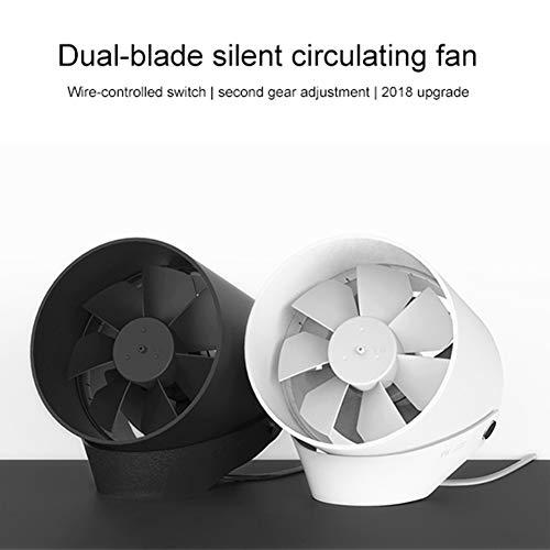 Bainuojia Original für xiaomi Vh Mini Tragbare Ventilator Ventilatoren USB Norma Mijia Fan Ultra Leise Smart Touch Sommer Abkühlen Doppelblatt Desktop Fan (Schwarz)
