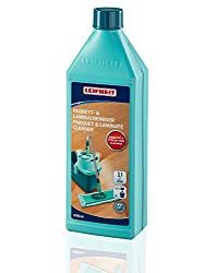 Leifheit parquet / laminate cleaner 1000 ml Concentrate, parquet care without streaks and water residues, gentle parquet cleaner with joint protection
