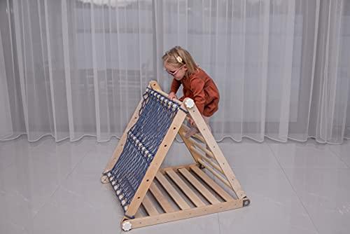 ピクラートライアングルキッズプレイハウスモンテッソーリ幼児GYMラダーおもちゃベビークライマースライド折りたたみ式アクティビティ