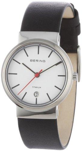 BERING Damen-Armbanduhr Analog Quarz Leder 11029-404