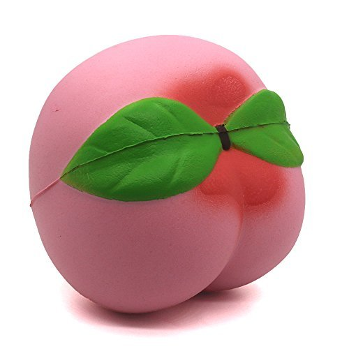 """Trasfit 3.9"""" Jumbo Slow Rising Squishy Pink Peach, Kawaii Squishy Charms, Hand Pillow Toy, Stress Relief Toy"""