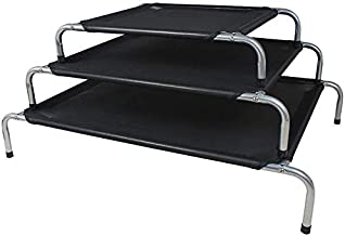 ZEEZ Platinum Elevated Pet Bed Large 120x84x20cm, 1 Count, Black