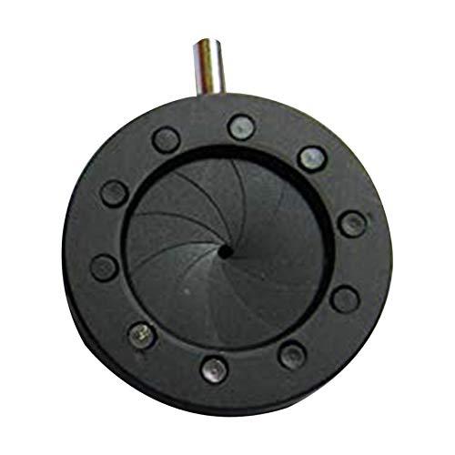 Manuelle einstellbare Apertur Dimmer Spot Regulator Mechanische Apertur Einstellbare Apertur für Laser-Mikroskop-Kamera - Schwarz