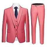 Color sólido de los hombres de negocios casual traje de tres piezas de color traje de los hombres