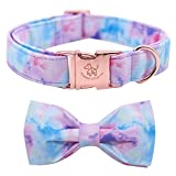 Elegant little tail Dog Collar with Bow, Soft&Comfy Bowtie Dog Collar, Adjustable Pet Gift Collars for Small Medium Large Dogs