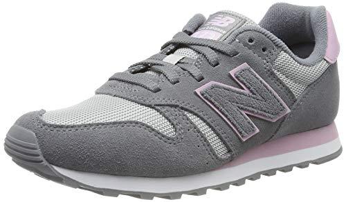 New Balance Damen 373 Sneaker, Grau (Grey/Pink Grey/Pink), 38 EU