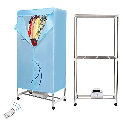 Concise Home Tendedero eléctrico de 1500 W, gran capacidad, 15 kg, doble capa, mando a distancia, ahorro de energía, secado al aire caliente