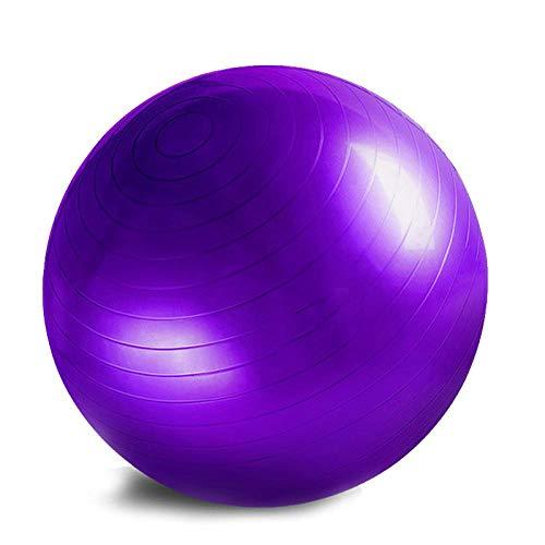 XYBB Gymnastikball Yoga Ball Balanced Ball Fitness Massage Sport Workout Schmerz lindern Massage Bälle Training Tool lila75cm