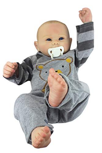 Cpippo 50 cm Reborn Babypuppen Realistische Weiche Volle Silikon Vinyl Kleinkind Puppen Handgemachte Babys Neugeborenes Baby für Jungen Mädchen Spielzeug