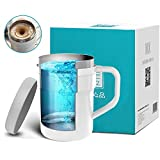 Self Stirring Coffee Mug - Self Stirring, Stainless Steel Self Mixing Cup for Coffee/Tea/Hot Chocolate/Milk Mug,Best for Office,Kitchen,Travel,Home(Whith)