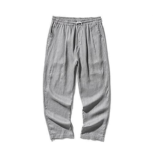 Pantalón Largo de salón para Hombre, Estilo Chino, Color sólido, Parte Inferior Agradable a la Piel, Pantalones Rectos para jóvenes con Cintura elástica Suelta