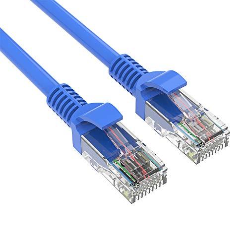 QueenDer 1m Netzwerkkabel, Cat.6 Ethernet LAN Kabel High Speed Gigabit Patch Kabel mit Stecker RJ45 kompatibel mit Cat.5e Cat.5 Cat.7 für Netzwerke Router Modem Switch PS4 Access Point